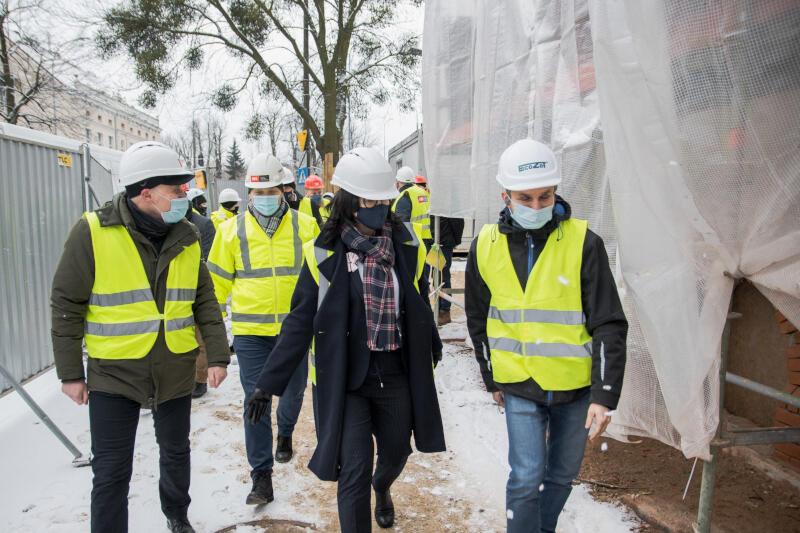 Postęp prac w czwartek, 14 stycznia, oceniała prezydent Gdańska Aleksandra Dulkiewicz