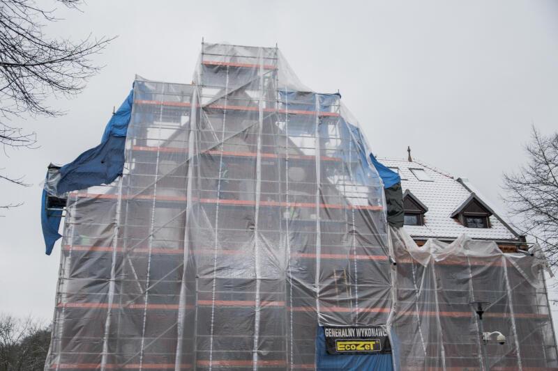 Przebudowa Ratusza Oruńskiego trwa. To element Programu Rewitalizacji dzielnic Gdańska, współfinansowanego z Regionalnego Programu Operacyjnego Województwa Pomorskiego na lata 2014-2020
