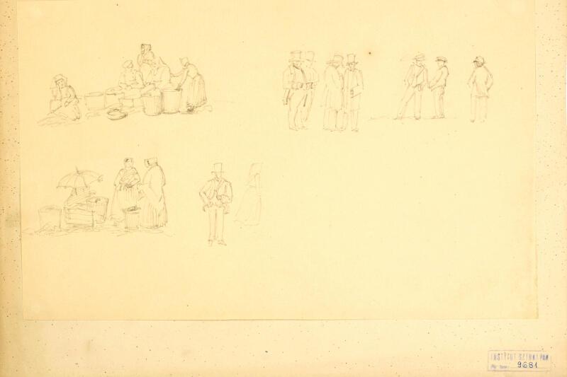 Studium postaci - gdańszczan. Georg T. Schirrmacher, lata 50. XIX wieku