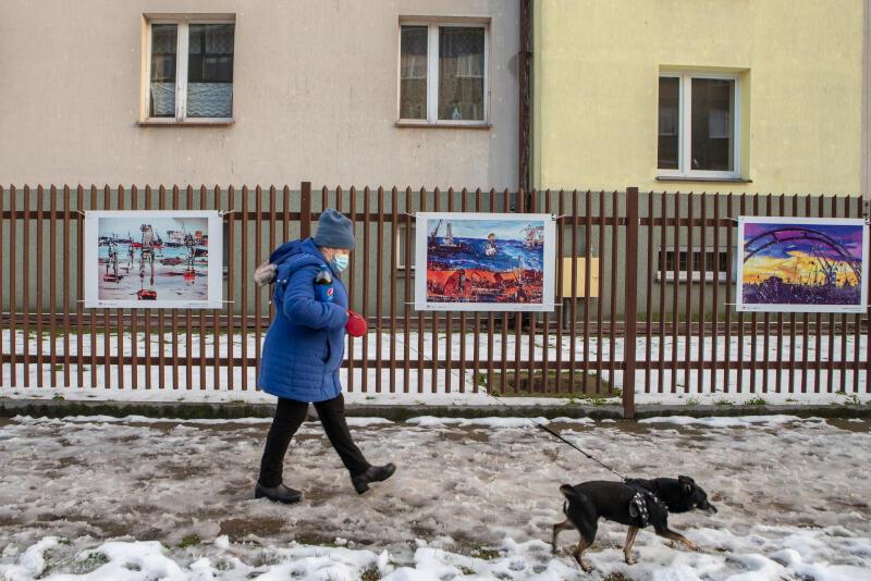 Obrazy oddają ducha Gdańska i ukazują jego najważniejsze zabytki i charakterystyczne miejsca