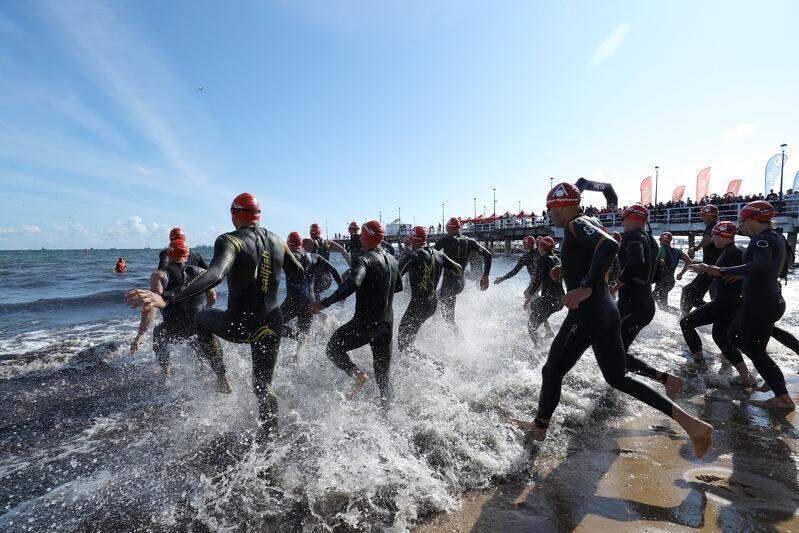 Lipiec 2019, start do Triathlon Gdańsk