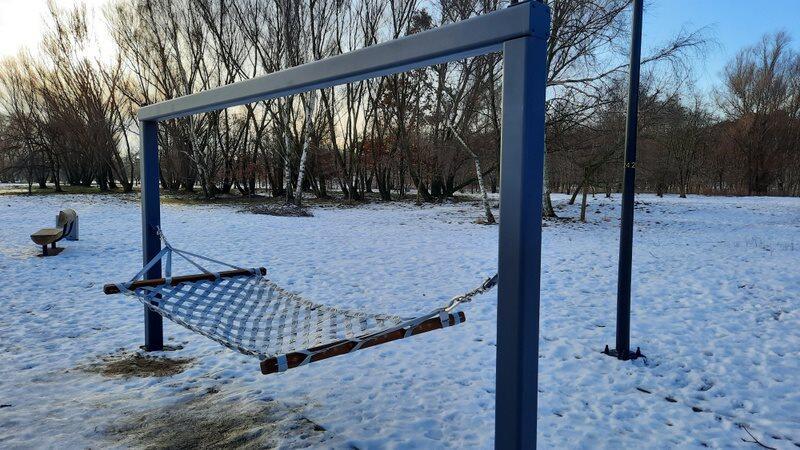 W centralnej części Parku Reagana powstał plac zabaw dla dorosłych. Na miejscu znajdują się m.in. hamak