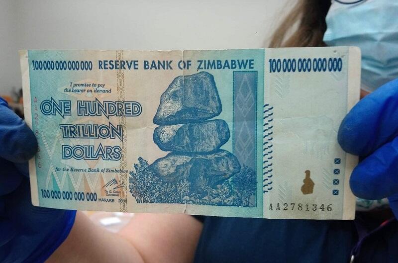 100 trylionów dolarów zimbabwańskich dolarów trafiło do puszki jednego z gdańskich wolontariuszy WOŚP