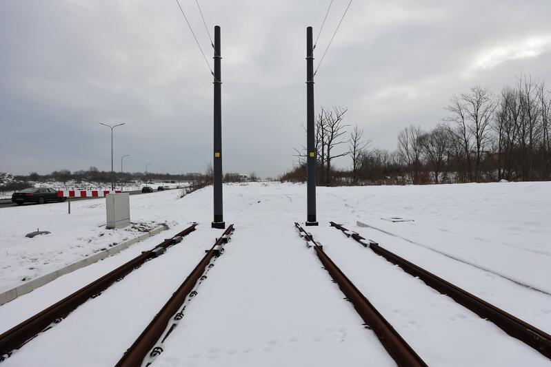 Miejsce, gdzie dziś kończą się tory, będzie początkiem nowej linii tramwajowej