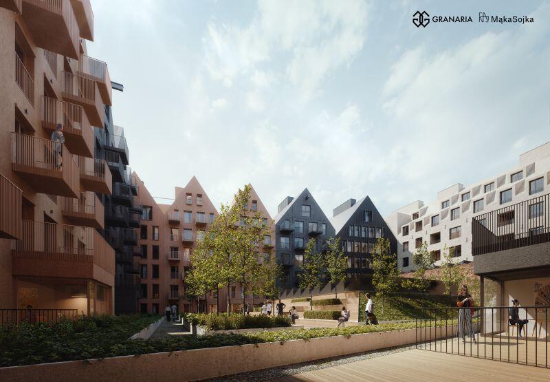 W zamierzeniach projektnatów dziedziniec o pow. 1500 mkw ma być miejscem życia towarzyskiego i przestrzenią dla imprez artystycznych