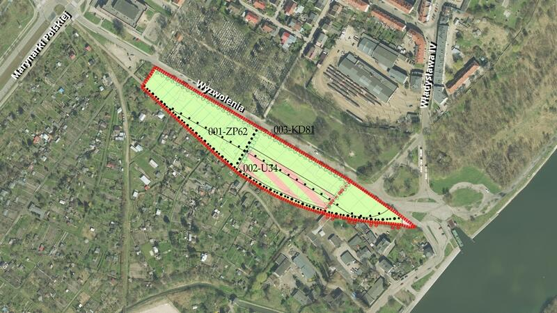 Granica planu Nowy Port rejon ulicy Wyzwolenia 41