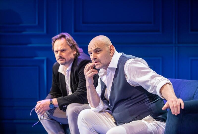 Sztuka w reż. Adama Orzechowskiego. Od lewej: Piotr Łukawski - Serge i Robert Ninkiewicz - Marc