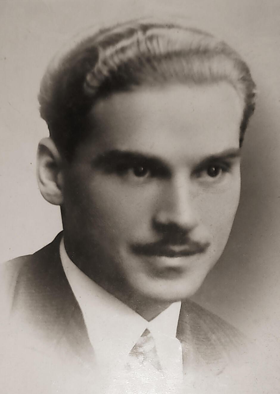 Portret Mieczysława Manowieckiego w wieku ok. 20 lat