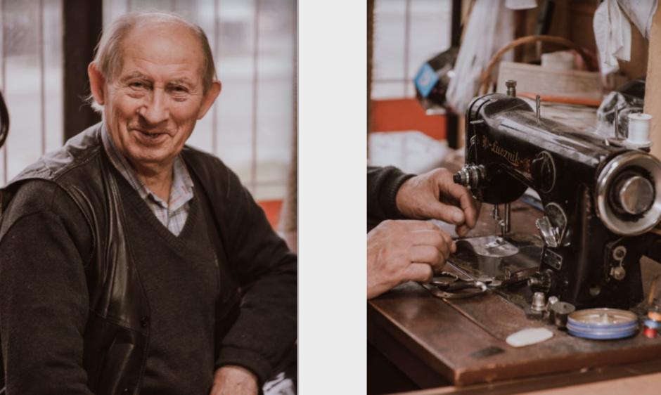 Pan Krawiec - to nazwa zakładu, który znajduje się przy ul. Śląskiej 21. Nz. Pan Henryk, który krawiectwem zajmuje się od 65 lat