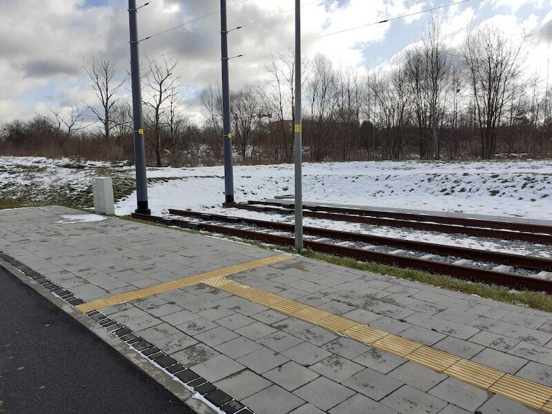 Miejsce kontynuacji linii tramwajowej Nowa Warszawska