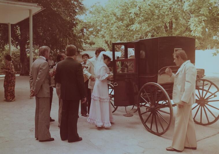 Dziedziniec Pałacu Ślubów (Pałacyk Uphagenów w Gdańsku Wrzeszczu), druga połowa lat 70-tych