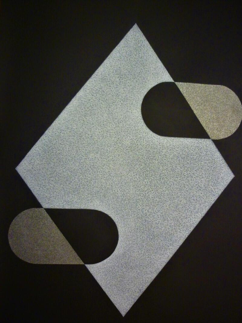 Artystę interesuje minimalizm konstruktywistyczny. Na wystawie zobaczymy 15 jego prac różnie odnoszących się do tego tematu