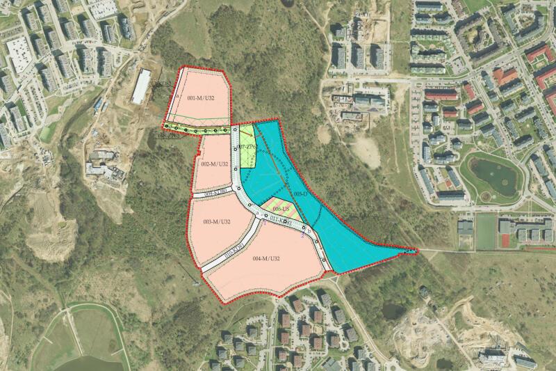 Dokładna lokalizacja obszaru na Zakoniczynie objętego projektem planu. Plany można obejrzeć osobiście w Biurze Rozwoju Gdańska, bądź zapytać o szczegóły telefonicznie lub mailowo projektanta