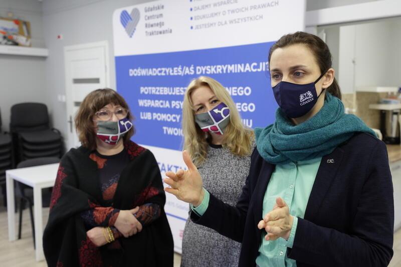 Zastępczyni prezydent Gdańska Monika Chabior w Gdańskim Centrum Równego Traktowania