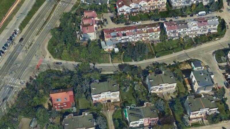 Fragment ulicy Wojskiego - na odcinku od ul. Łostowickiej do ul. Stolnika