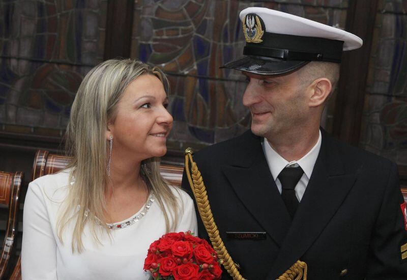 Sławomir Szumicki wraz z żoną Aleksandrą