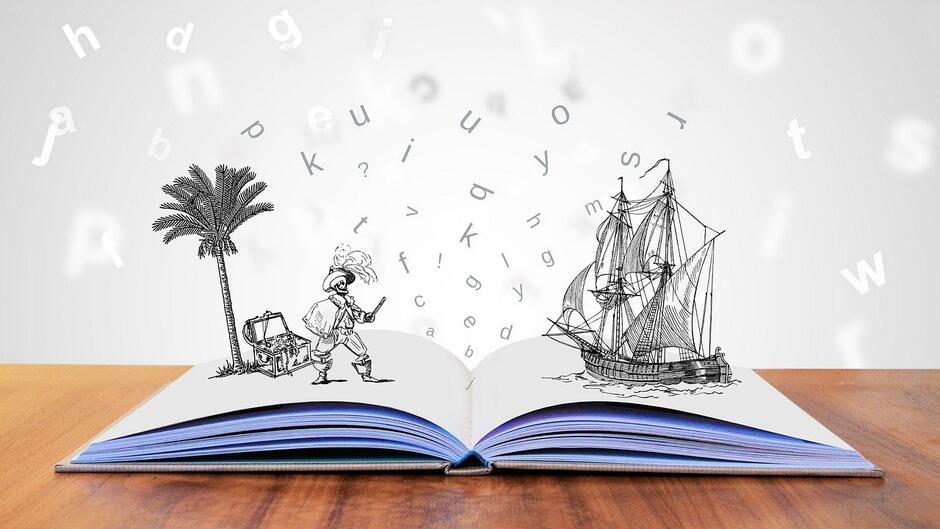Uczestnicy konkursu mają za zadanie stworzyć krótki materiał audiowizualny, który będzie przedstawiał ulubioną książkę (zdjęcie ilustracyjne)