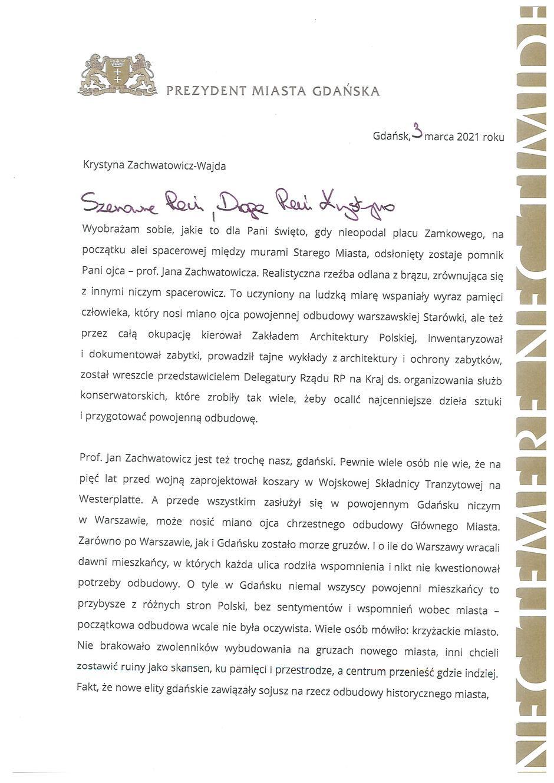 list_prezydent_ganska_do_krystyny_zachwatowicz_wajdy_Strona_1