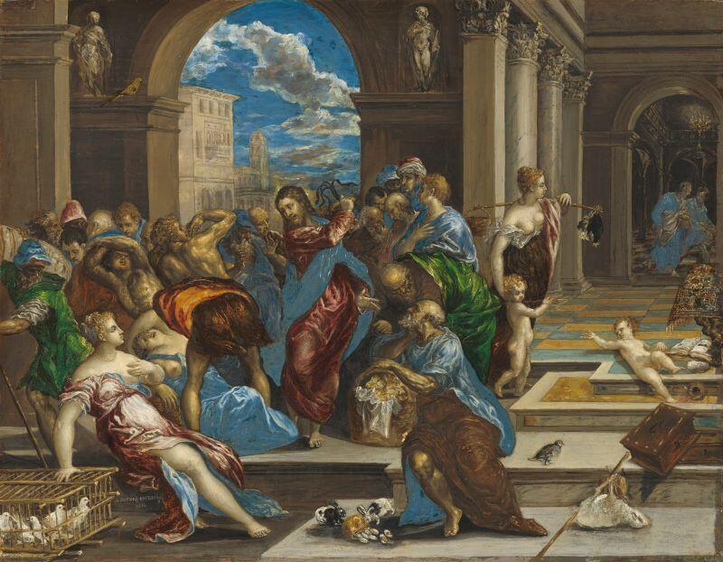 El Greco, Wypędzenie przekupniów ze świątyni, 1575 r., Minneapolis Institute of Art