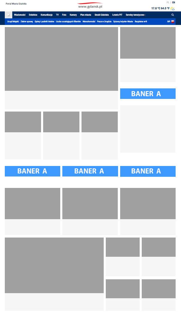 Banery na stronie 2020