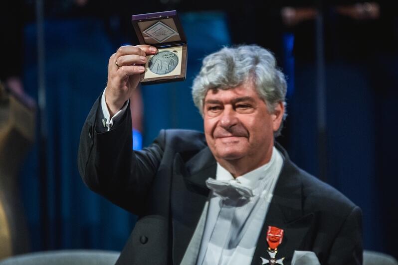 Nz. Jan Łukaszewski w Katedrze Oliwskiej we wrześniu 2018 roku, podczas uroczystego koncertu na 40-lecie Polskiego Chóru Kameralnego Schola Cantorum Gedanensis.