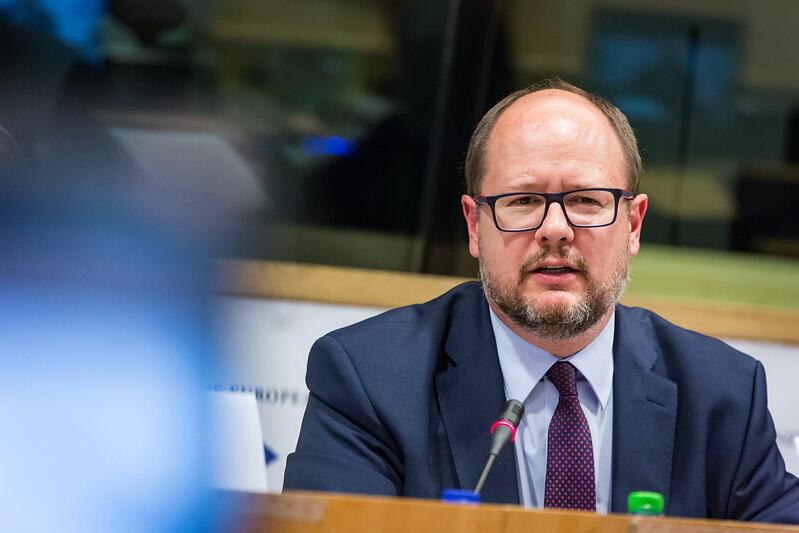 Paweł Adamowicz podczas obrad Europejskiego Komietetu Regionów