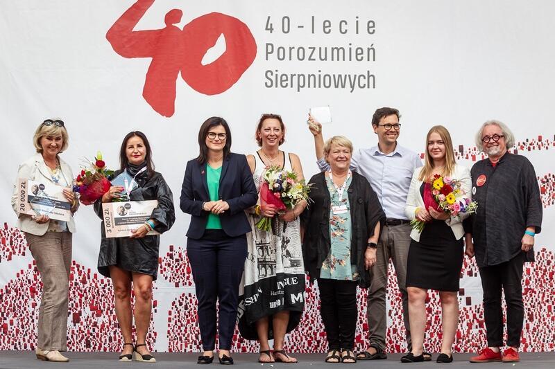 Laureaci nagród Prezydenta Gdańska im. Lecha Bądkowskiego podczas wręczania 30 sierpnia 2020 roku