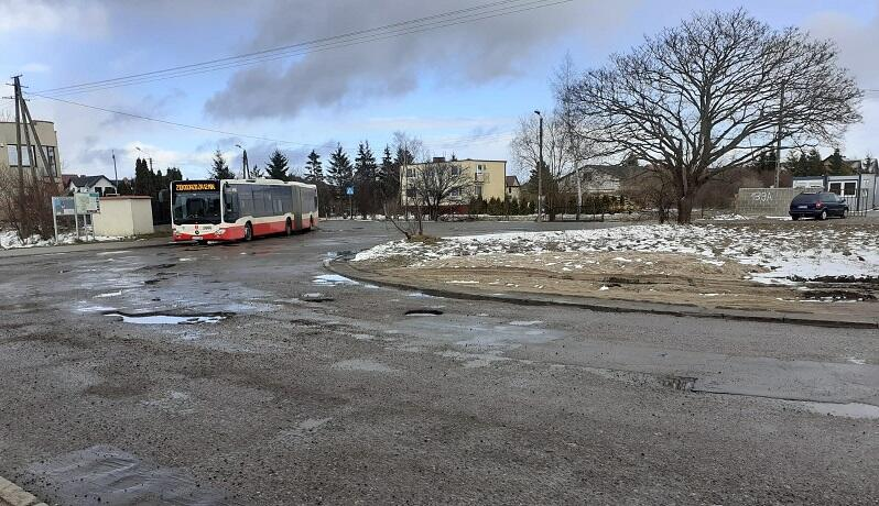 Pętla autobusowa w Osowej przy ul. Barniewickiej, tutaj powstanie węzeł integracyjny