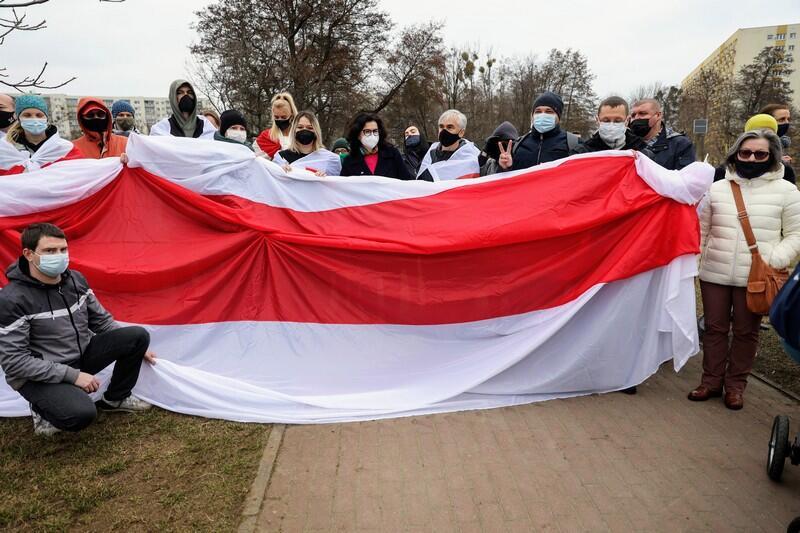 Prezydent Aleksandra Dulkiewicz ze społecznością białoruską w przeddzień Dzień Wolności Białorusi