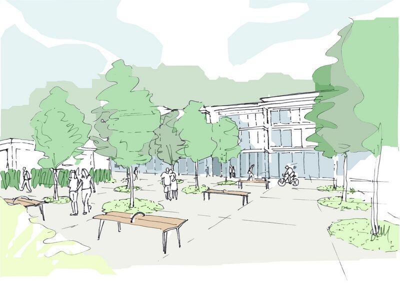 Szkic koncepcyjny możliwości zagospodarowania przestrzeni lokalnej w rejonie ulicy Turystycznej