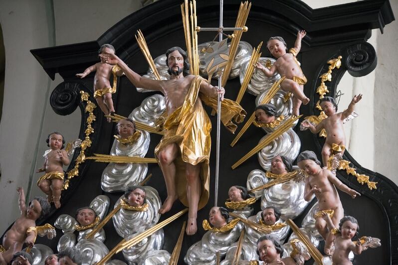 Chrystus zmartwychwstały - rzeźba z kościoła św. Mikołaja w Gdańsku