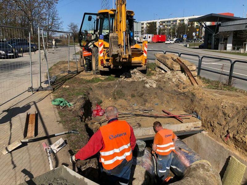 Pracownicy GPEC w środę, 31 marca, rano sprawdzali jeszcze instalacje i rury