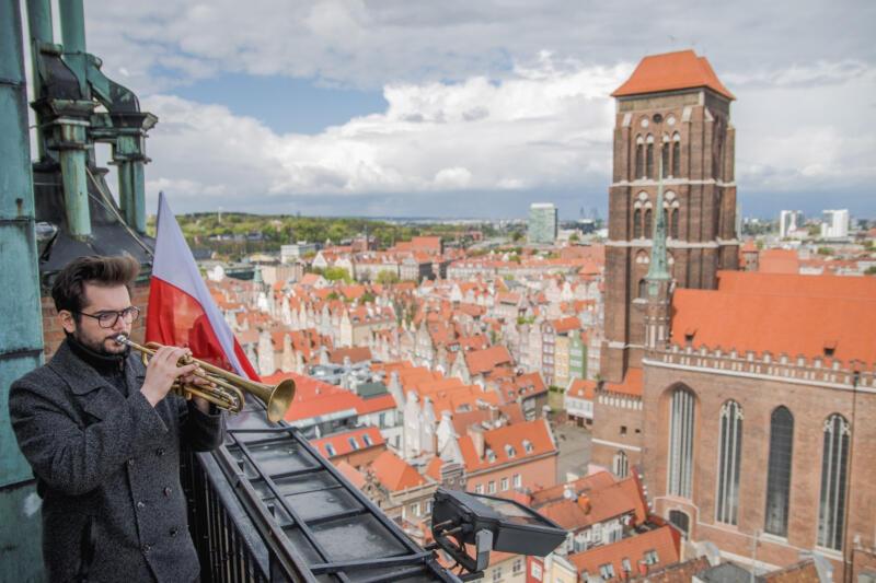 Ponownie carillonistce Monice Kaźmierczak towarzyszyć będą trębacze - Paweł Hulisz i Emil Miszk (na zdjęciu). Artyści wspólnie przygotowali program na Poniedziałek Wielkanocny