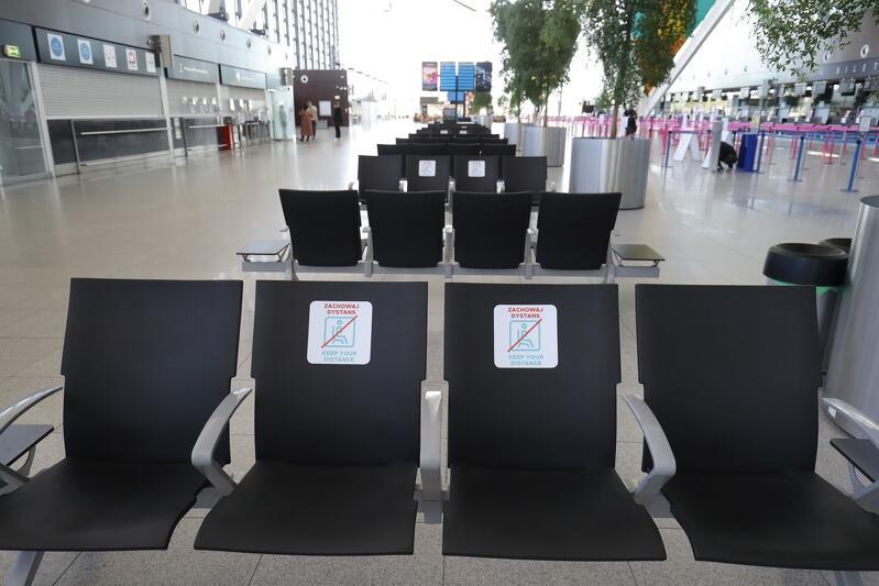 Port Lotniczy w związku z pandemią wprowadził w ubiegłym roku rygory sanitarne dla podróżujących