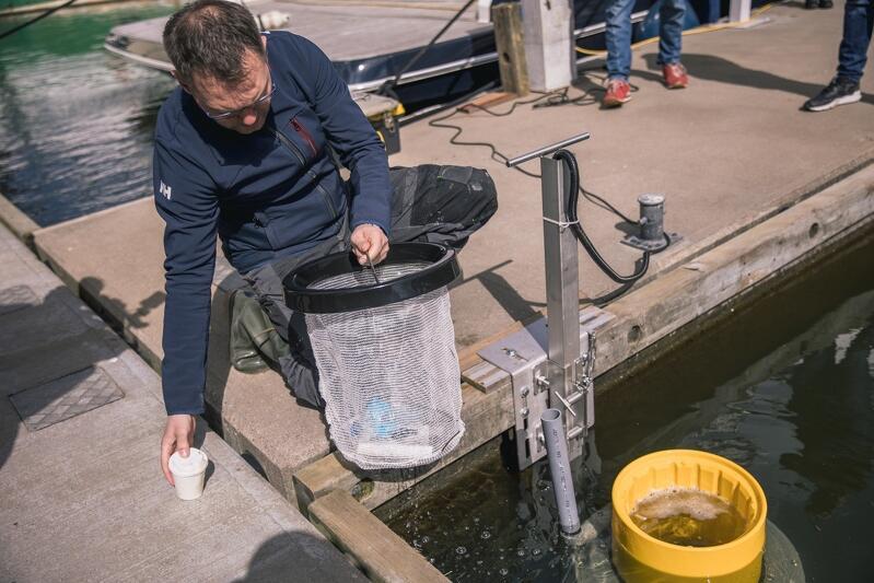 Zanieczyszczenia, które wciągnie Seabin, są usuwane ręcznie