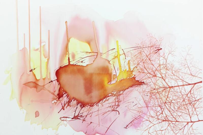 Twórczość Bogny Burskiej traktowana była jako połączenie sztuki krytycznej z problematyką estetyczną. Jednak najnowsze obrazy artystki stały się delikatne i organiczne