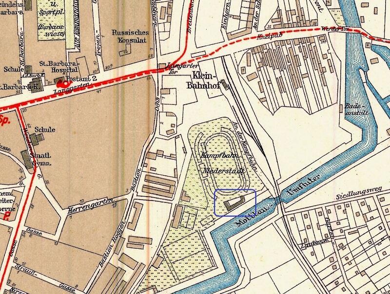 Gdzie mieszkała Ursula Krey? Dr Jan Daniluk oznaczył niebieskim prostokątem na planie Gdańska z 1933 roku