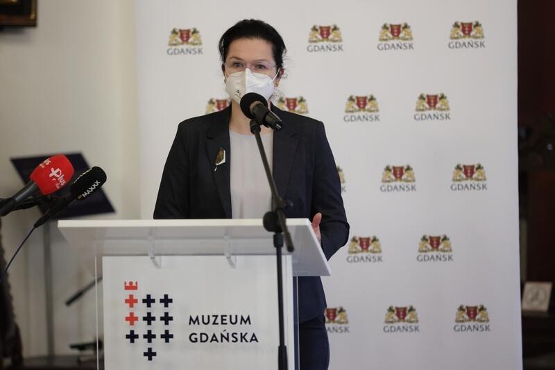 Oddział Muzeum Bursztynu w Katowni symbolicznie zamknęła prezydent Gdańska Aleksandra Dulkiewicz