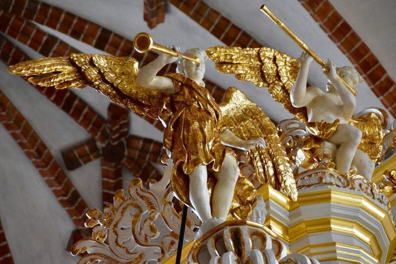 Fragment organów w kościele św. Jana w Gdańsku