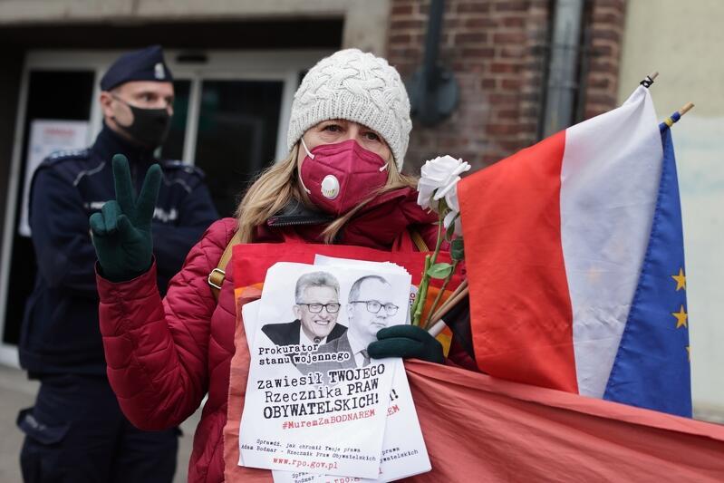 Manifestacja w obronie Adama Bodnara w Gdańsku