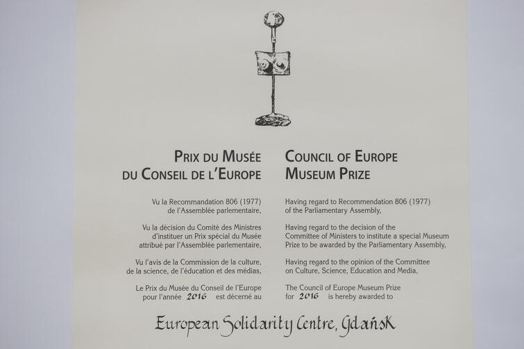 Metryczka Nagrody Muzealnej Rady Europy