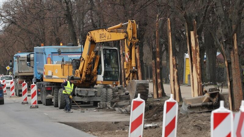 Prace drogowe na ul. Wojskiego potrwają do końca kwietnia, na ul. Czyżewskiego do końca czerwca