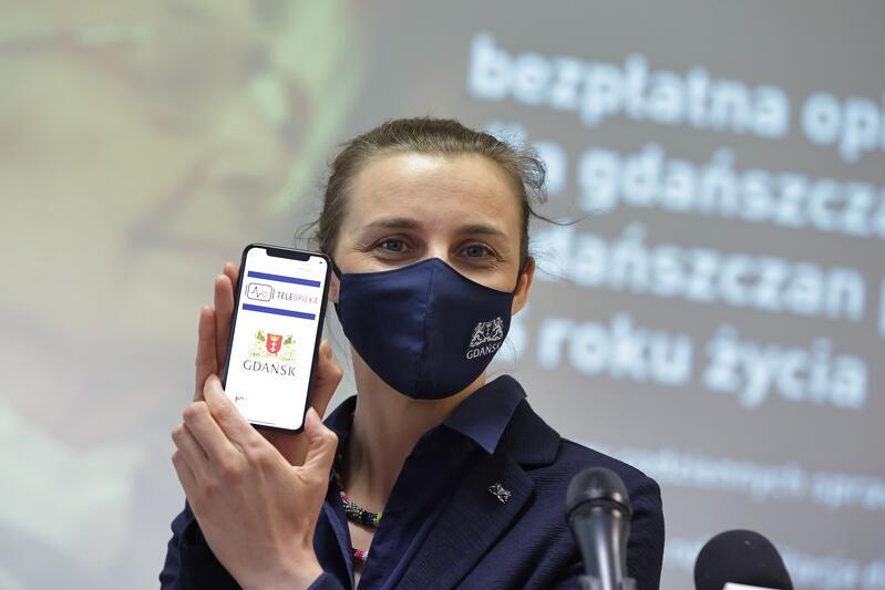 Monika Chabior zastępczyni prezydent Gdańska podczas konferencji 28 kwietnia br.