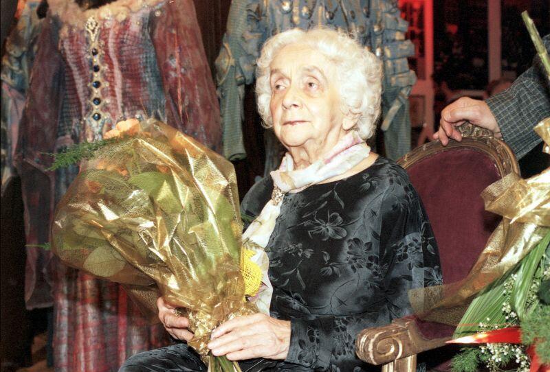 Profesor Janina Jarzynowna-Sobczak podczas uroczystości 50-lecia Opery Bałtyckiej w Gdansku - 04.12.1999