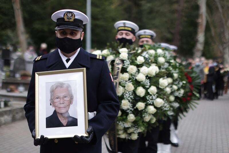 Pogrzeb prof. Janiny Suchorzewskiej, 30 kwietnia 2021 Cmentarz Katolicki w Sopocie