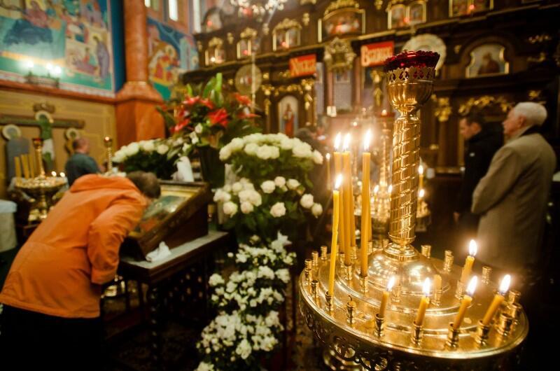 Uroczystości wielkanocne w cerkwi św. Mikołaja, przy ul. Traugutta we Wrzeszczu