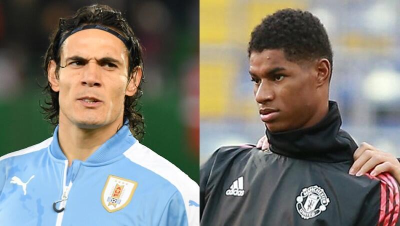 Gwiazdy Manchesteru United: Urugwajczyk Edinson Cavani i Anglik Marcus Rushford - ich wartość rynkowa szacowana jest łącznie na 92 mln euro, prawie dziewięciokrotnie więcej niż cała Lechia Gdańsk