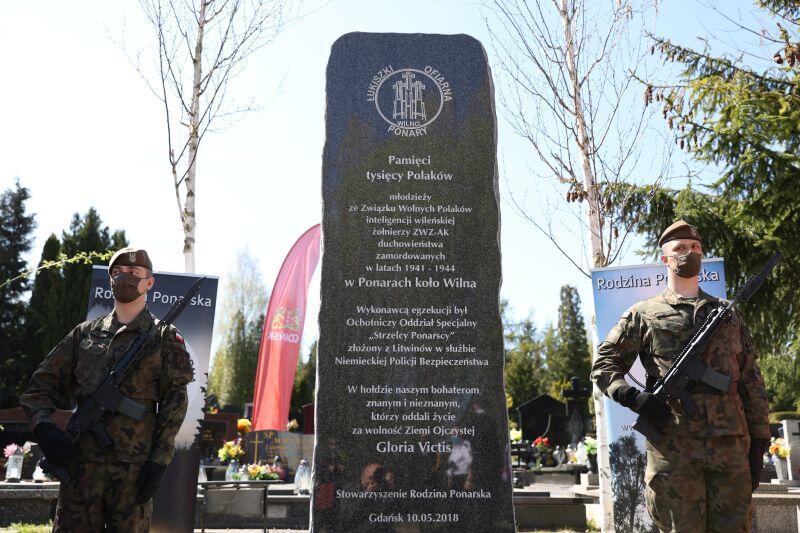 Pomnik Ponarski na Cmentarzu Łostowickim w Gdańsku