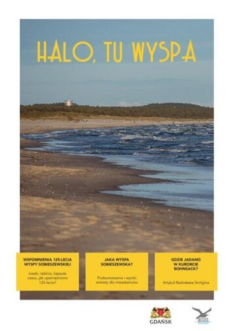Strona tytułowa gazetki Halo, tu Wyspa  - widok całości