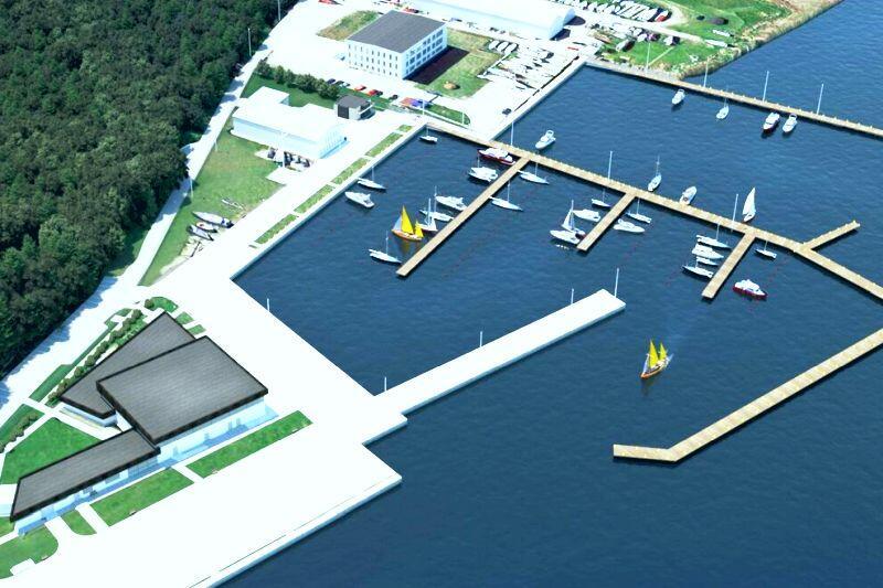 Wizualizacja portu jachtowego